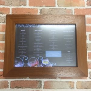 A3 Landscape Impact Wood Display Case (IT342)