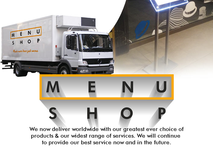 About the Menu Shop! Leaders in hospitality supplies for over 15 years!