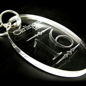Acrylic Engraved Key Rings