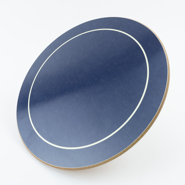 Blue Round Melamine Placemat It944 From Menushop