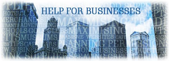 Help for businesses