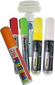 Liquid chalk pens & blackboard accessories