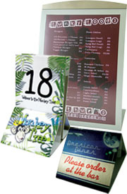 Tabletop displays, counter displays, table numbers, custom display cases, table display case.