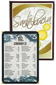 Plastic menus, menu covers, menu folders, menu holders, menu cover, menu folder & menu holder.