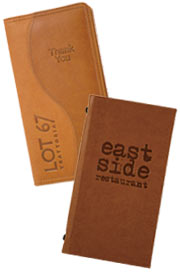 Leather bill holders, leather bills holder, bill presenters.
