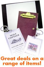 blotters, faux leather blotter, wooden blotter, menu box, menu boxes, waitress pads.