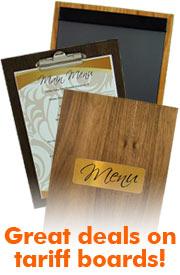 menu boards, tariff boards, menu board, menu display, menu displays, restaurant menu.