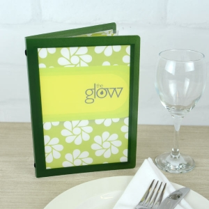 A5 Green Crystal Menus (IT6)