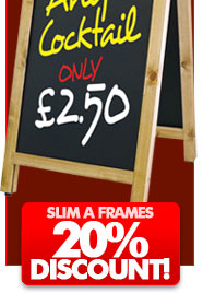 Walnut framed chalkboards now with a massive 60% reduction!