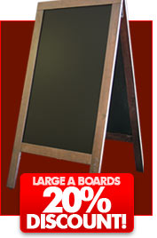 Single sided A boards now with a massive 60% OFF!!
