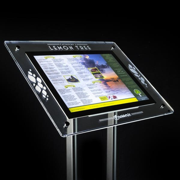 Illuminated Signs Outdoor Menu Display Stands Impressive Multimedia Display Stands