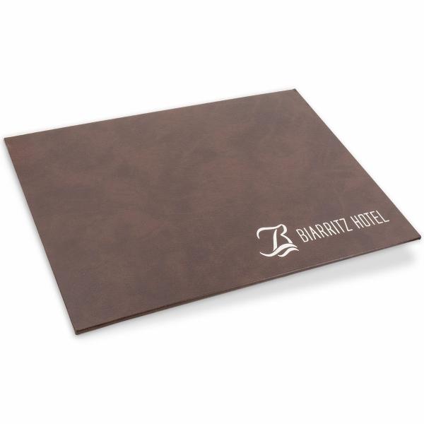 Brown Leather Desk Pad Hostgarcia