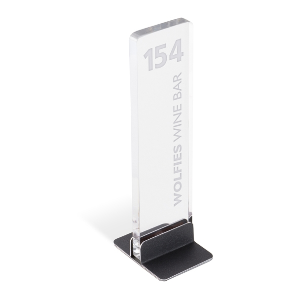 Restaurant table numbers stunning tabletop signs for Table sign design