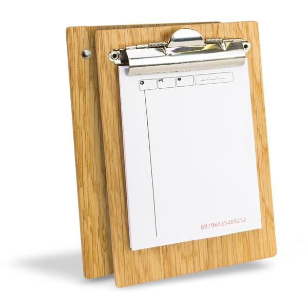 Wooden waitress pad