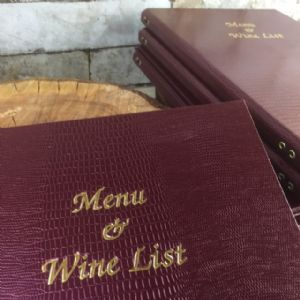 A4 Plum Iguana Menus (IT252)