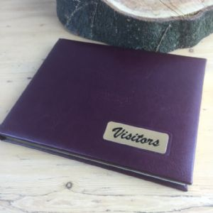 Burgundy Kensington Visitor Book (IT259)