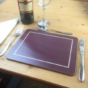 Burgundy Melamine Placemats (IT291)