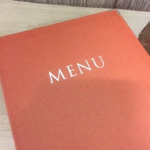 A4 Orange Ashmore Menus (IT362)