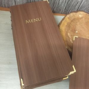 Slim Woodgrain Menu Covers (IT366)