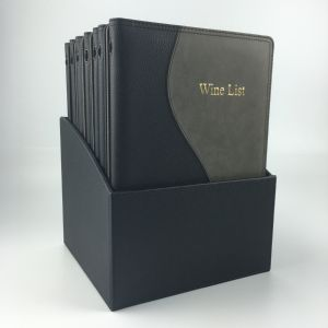 Boxset with 12 A4 faux leather menus (IT459)
