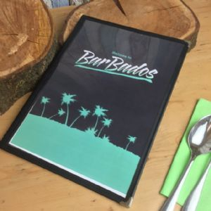 Black A4 Florida Menus (IT513)