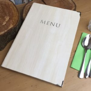 A4 Wood Effect Laminated Menu (IT517)