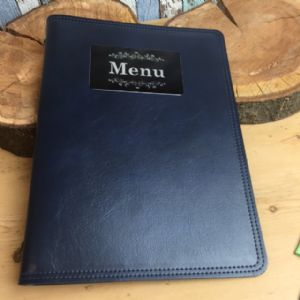 A4 Blue Leather Effect Menu Covers (IT520)