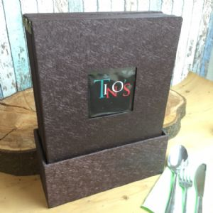 A4 Glitzy Brown Unica Window Boxset  (IT521)