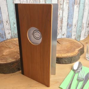 Slim Wood And Aluminium Menu Covers (IT522)