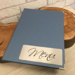 Blue Glitzy Laminated Fixed Interior Menus A4 (IT537)