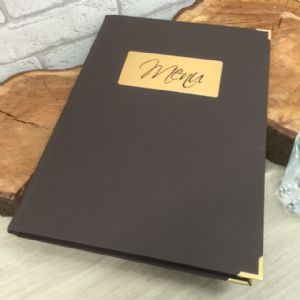 Laminated Glitzy Brown A4 Menus (IT538)