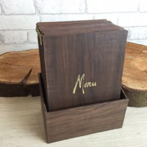 Wood Effect Laminated Menu A5 (IT548)