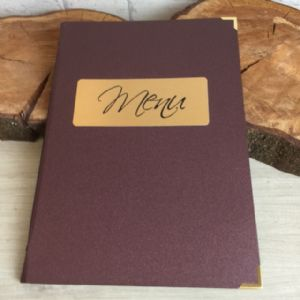 Burgundy and Silver Laminated Paper Covers A4 (IT564)