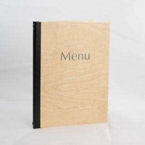 Menus in Light Wood A4 Size (IT572)