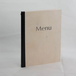 White Wooden Menus A4 Size (IT576)