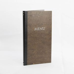 Dark Brown Wood Menus Slim Size (IT577)