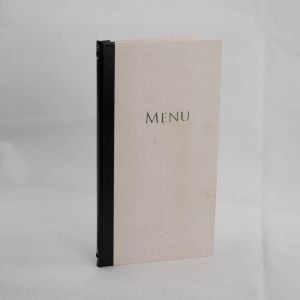 Menus in White Wood Slim Size (IT578)