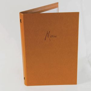 Tan faux leather A4 menu covers (IT601)
