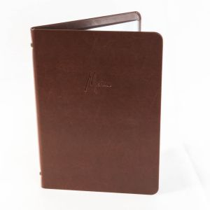 Dark brown faux leather A4 menu cover (IT603)