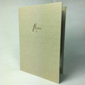 Putty fabric textured A4 menu covers (IT605)