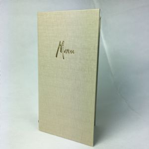 Putty fabric textured Slim menu covers (IT607)