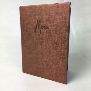 Bronze fabric textured A5 menu covers (IT611)