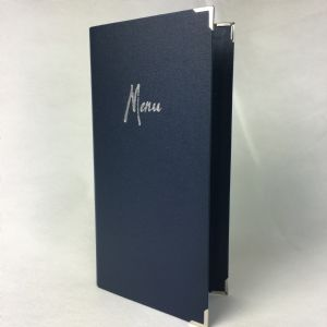 Dark blue laminated Slim Menu Covers (IT613)