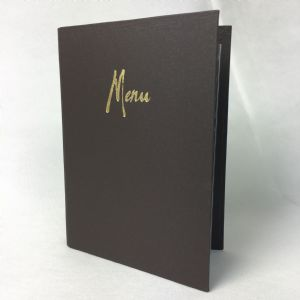 Dark brown laminated A5 menu covers (IT614)