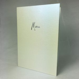 A4 Crocodile textured white menu covers (IT621)
