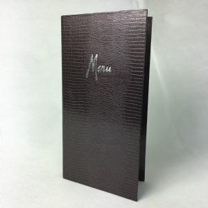 Slim mystic crocodile textured menu covers (IT622)