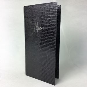 Slim nightshade crocodile textured menu covers (IT624)