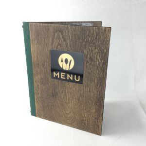 Wooden A4 distressed oak menus (IT638)