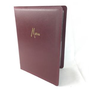 A4 Hard wearing leather style Burdungy menus (IT644)