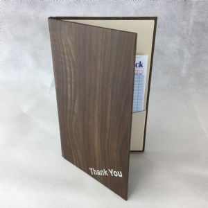 Brown laminated wood style bill holders (IT660)